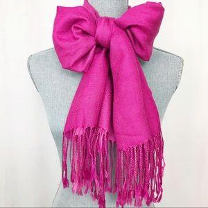 Pink Ombré Fringe Scarf
